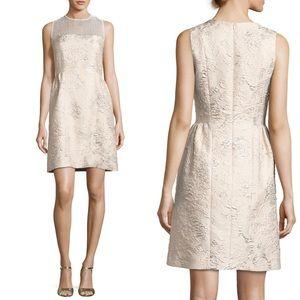 Elie Tahari Winny Sleeveless Textured Dress, Gold